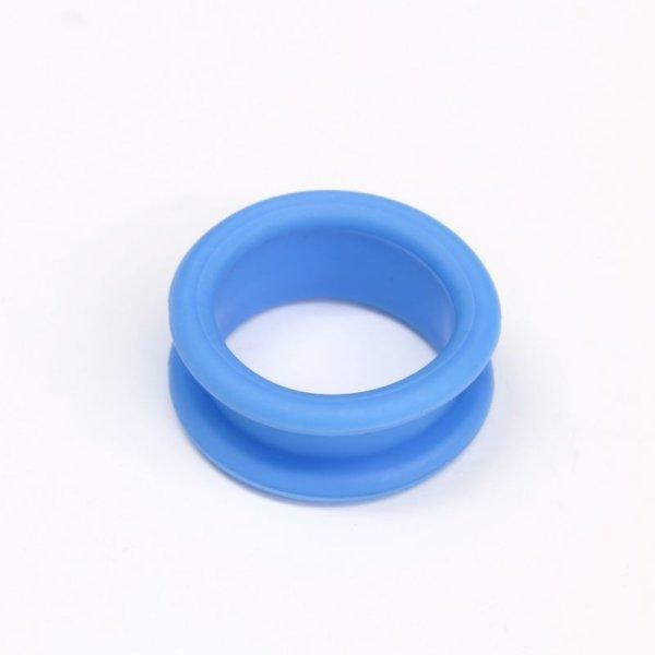 画像1: シリコンシザーリング(ブルー)4個入 (1)